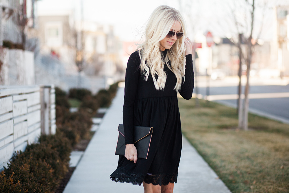 Kailee Wright-Holiday black dress