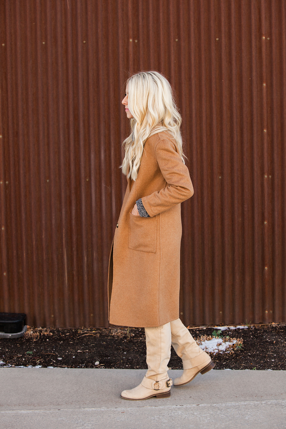 Kailee-Wright-brown Coat