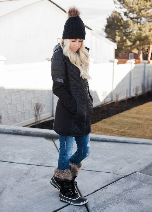 Kailee Wright-Athleta Black Coat