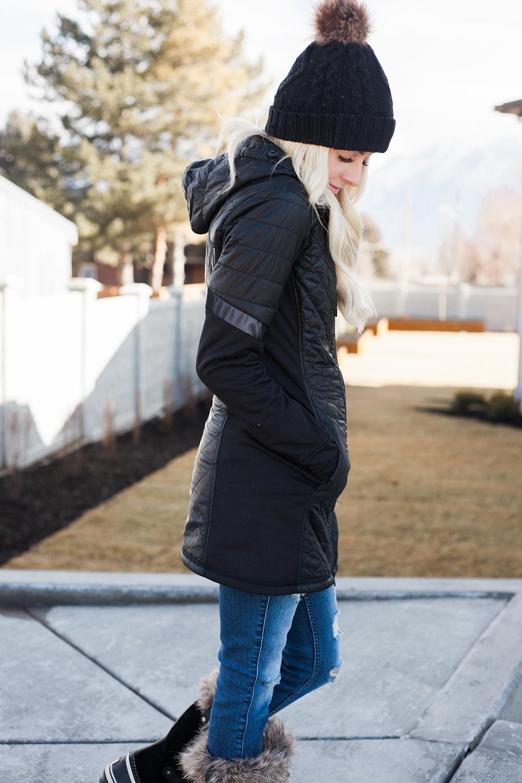 Kailee Wright-Athleta Black Coat