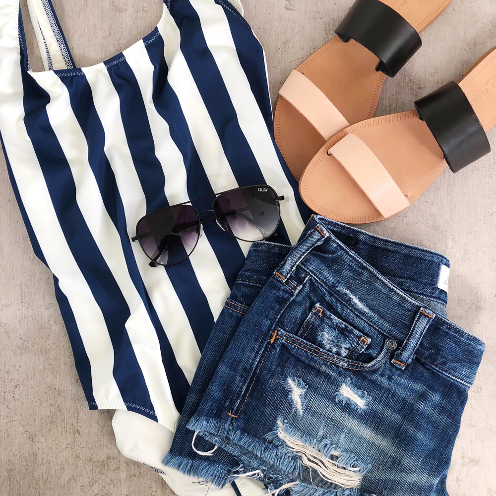 kailee wright weekly update swimsuit sandals