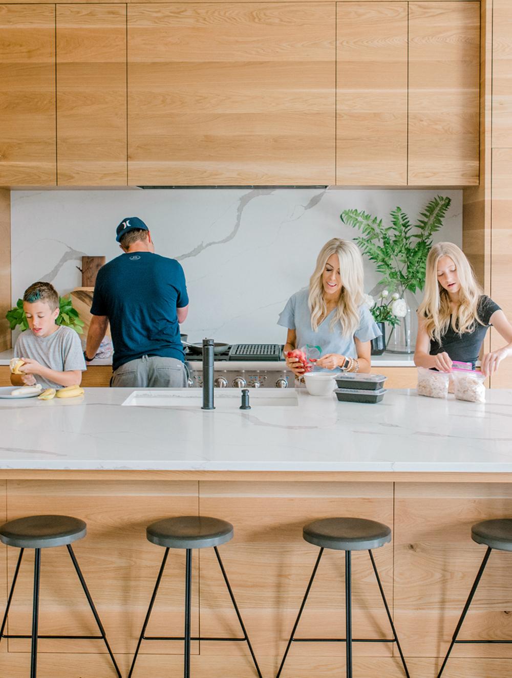 Kailee Wright Family dinner prep