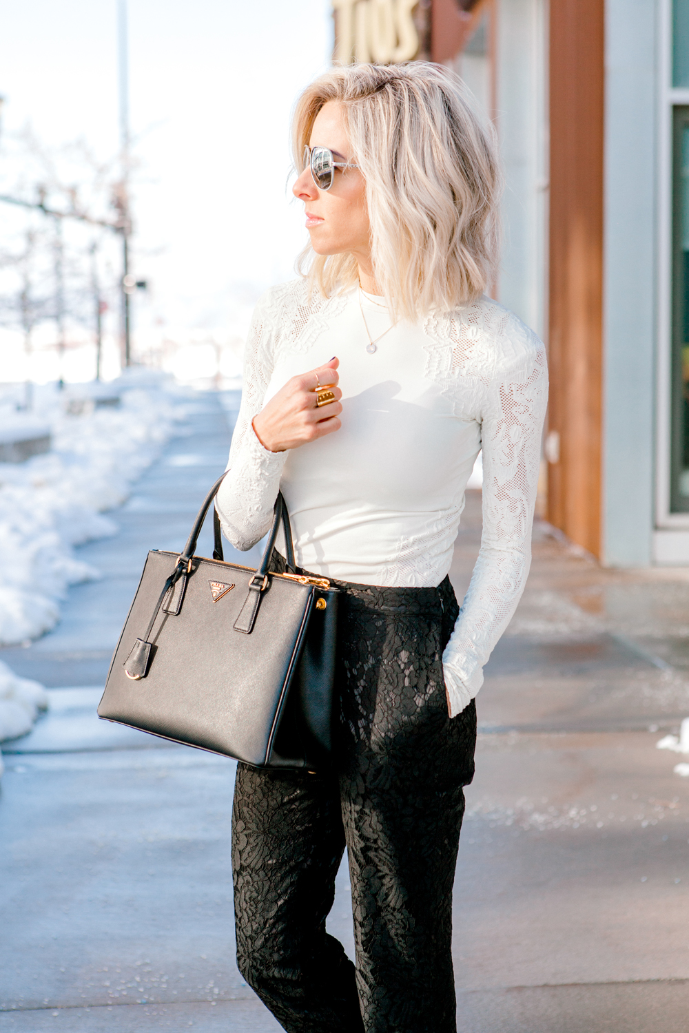 Kailee Wright Holiday lace pants