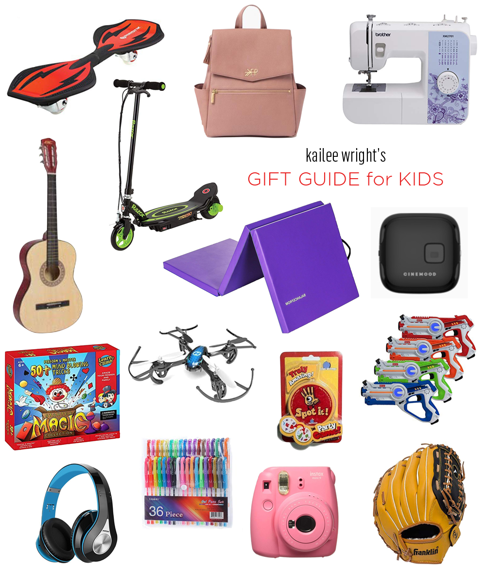 kailee wright gift guide for kids