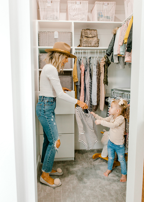 Kailee Wright kids closet organization