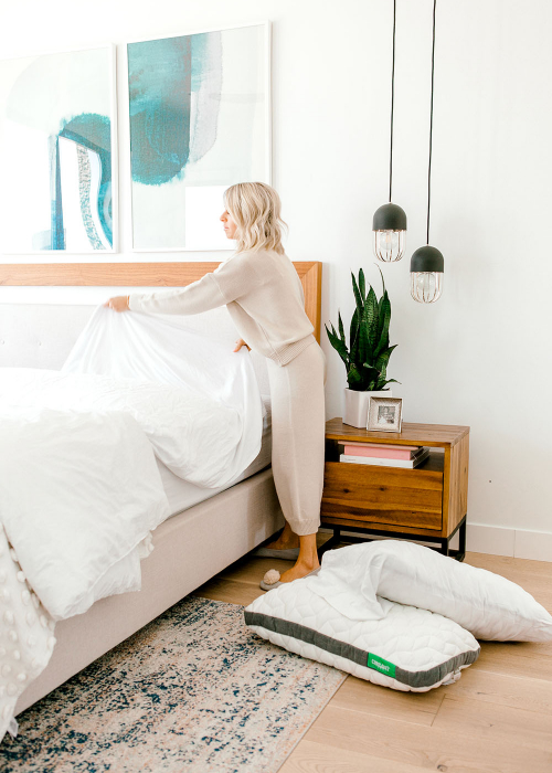Kailee Wright Cariloha tips for a more restful sleep