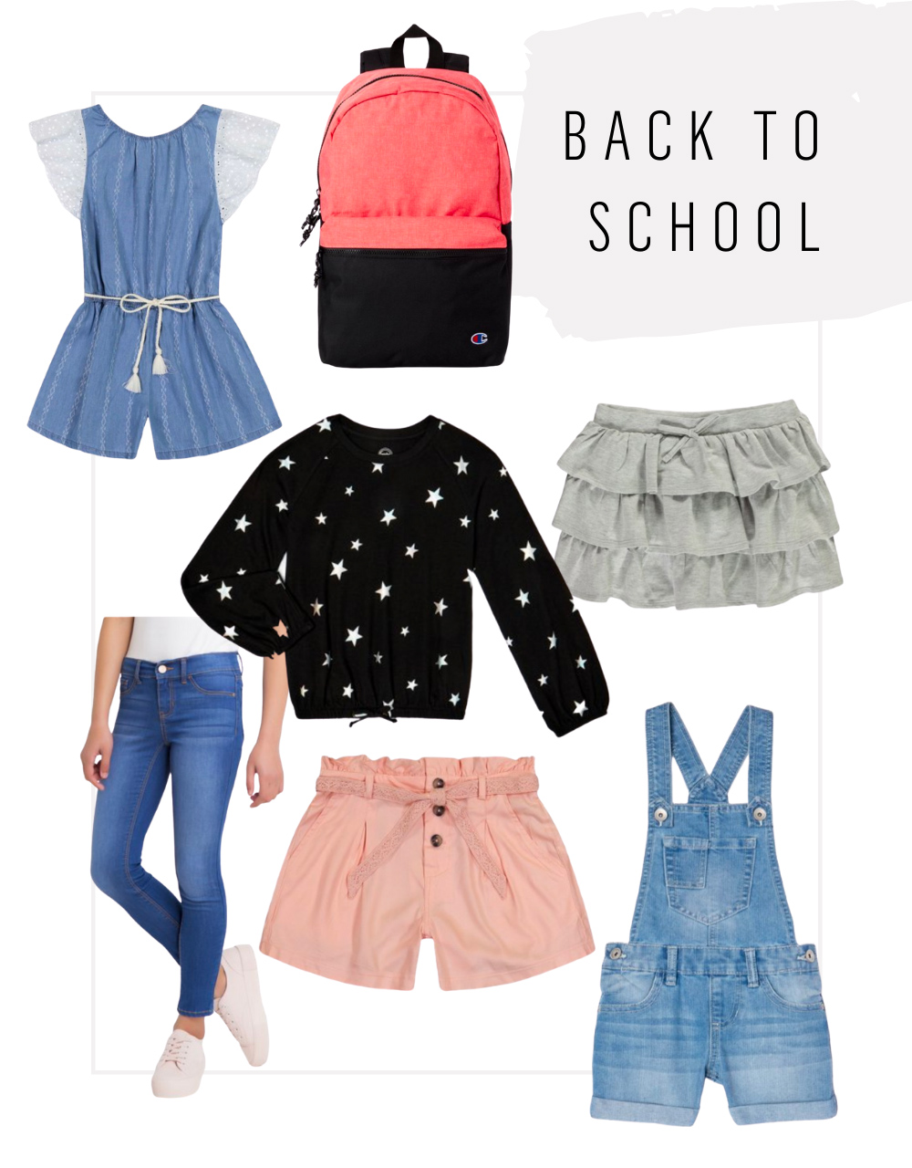 kailee wright walmart back to school clothes
