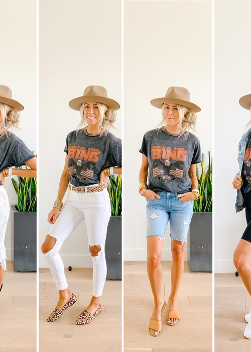 kailee wright ways to style a graphic tee