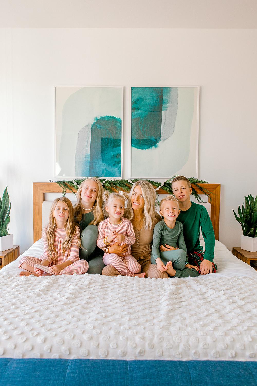 Kailee Wright family pajamas