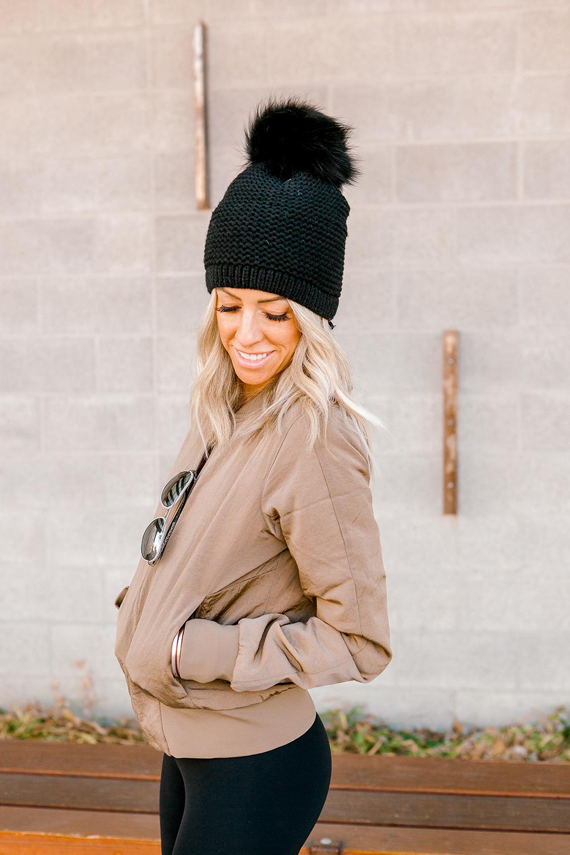 Kailee Wright lululemon leggings and jacket