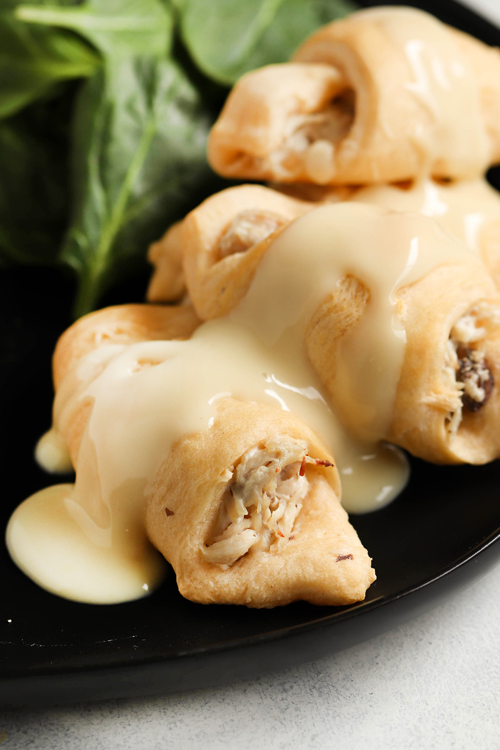 Kailee wright Cream-Cheese-Chicken-Roll-Ups-with-Gravy