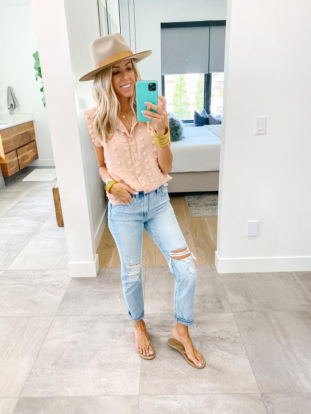 kailee wright amazon blouse
