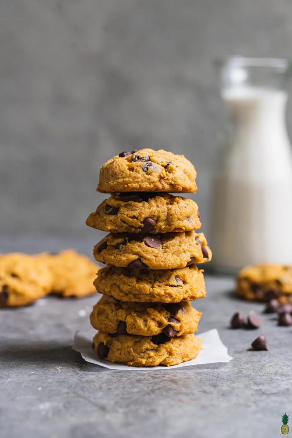 3 ingredient pumpkin chocolate chip cookie recipe